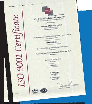 ISO 9001 Certficate
